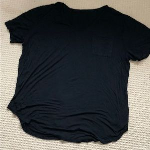 Tops - XXXXL 100% cotton black pocket tee